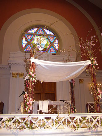 Chuppah - A chuppah at the Sixth & I Synagogue in Washington D.C.