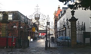 Davies brothers of Bersham - Image: Church Gates, St Giles Parish Church, Wrexham geograph.org.uk 653013