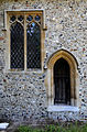 Church of St Andrew, Good Easter, Essex, England - chancel south door and window.JPG