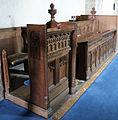 Church of St Mary the Virgin, Shipley, West Sussex, England ~ interior chancel north choir stalls.JPG