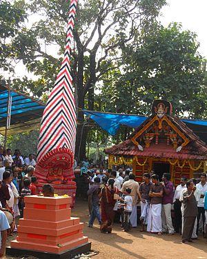 Karimbam, Taliparamba - Chuzhali Bhagavathi temple