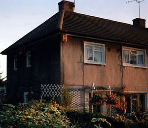 Swarcliffe - A three-bedroomed Swarcliffe house built with prefabricated panels in the 1950s, before refurbishment in the late 2000s