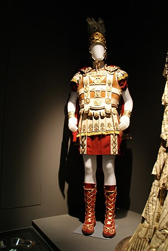 Cleopatra (1963 film) - Costume worn by Richard Burton in the film, displayed at the Cinecittà studios in Rome, Italy