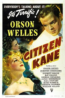 <i>Citizen Kane</i> 1941 American drama film directed by Orson Welles