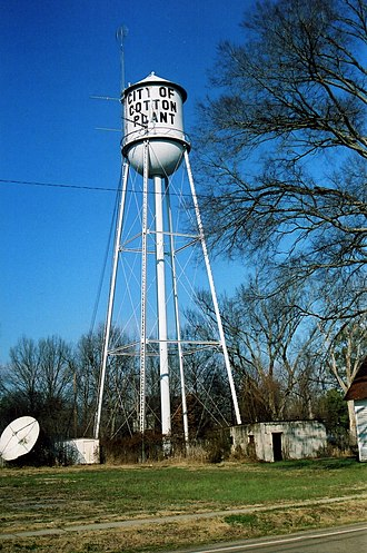 Pittsburgh-Des Moines Steel Co. - Cotton Plant Water Tower in Arkansas, built 1935 by the Pittsburgh-Des Moines Steel Co.
