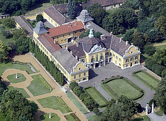 Nagytétény Palace - The palace from a bird's eye view