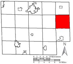 Location of Clarksfield Township in Huron County