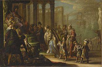 Claude Vignon - Solomon and the Queen of Sheba