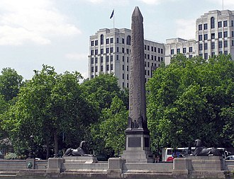 Benjamin Baker (engineer) - Cleopatra's Needle from the River Thames, London