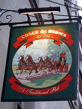 Great Marlborough Street - The Coach and Horses pub has been on Great Marlborough Street since the mid-18th century.