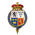 Coat of arms of Evelyn Pierrepont, 2nd Duke of Kingston-upon-Hull, KG.png