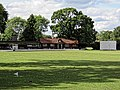 Cockfosters Cricket Club pavilion clubhouse at Cockfosters, London, England.jpg