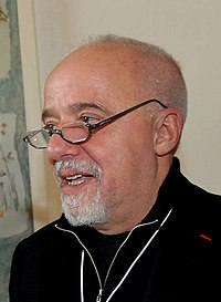 Paulo Coelho vid World Economic Forum-konferensen i Davos i Schweiz januari 2007.