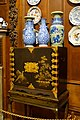 Coffer of Chinese Coromandel lacquer, with ceramics - State Closet, Chatsworth House - Derbyshire, England - DSC03241.jpg