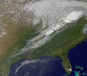 Cold front -  A cold front over the eastern and central region of the United States of America
