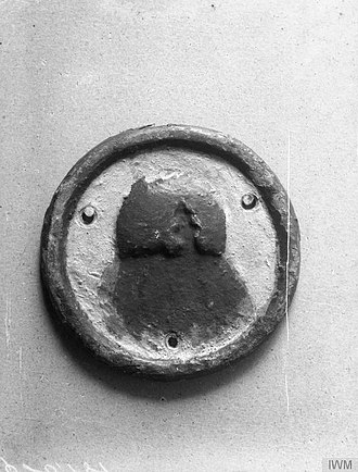 HMS Intrepid (1891) - Ship's badge of HMS Intrepid (IWM Q20181)