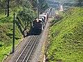 Comboio que saía sentido Guaianã do pátio da Estação Capricórnio em Mairinque - Variante Boa Vista-Guaianã km 160 - panoramio.jpg