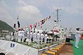 Commissioning pennant being hoisted onboard ICGS Rajveer.jpg