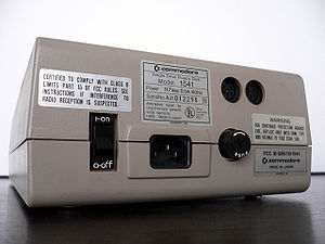 Commodore 1541 - Back panel view of the Commodore 1541 disk drive