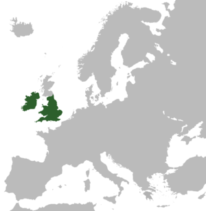 Commonwealth of England - Territory claimed by the Commonwealth in 1653