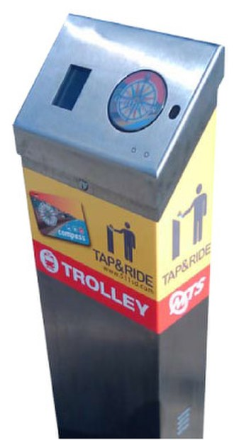 Compass Card (San Diego) - Image: Compass card trolley validator
