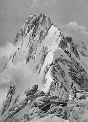 Compton, 1904, Weißmies-Nordgrat von der Scharte hinter dem ersten Gratturm