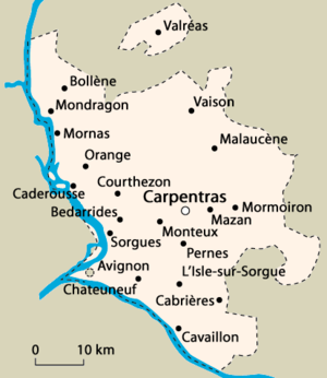 Ancient Diocese of Carpentras - Image: Comtat venaissin
