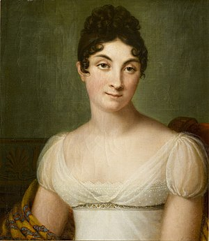 Madame de Rémusat - Portrait of Madame de Rémusat by Guillaume Descamps, 1813