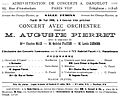 Concert announcement for the Salle Fémina in Paris, 26 May 1908 – Le Guide musical – Google Books 2006.jpg