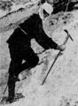 Constance Barnicoot climbing the Schreckhorn.png