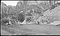 Construction, framing, residence Building 27, Oak Creek. ; ZION Museum and Archives Image 004 03A096 ; ZION 7353 (b17091066b8246c7bcd92f136b95a39b).jpg