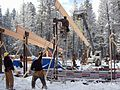 Construction of the Pine Creek Pavilion (2006).JPG