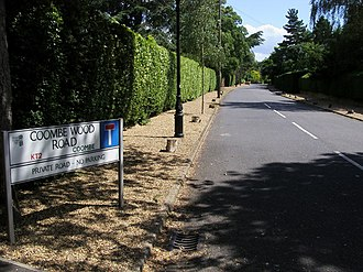 Coombe, Kingston upon Thames - Image: Coombe Wood Road geograph.org.uk 879520