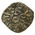 Copper alloy styca of King Osberht (YORYM 2001 3265) reverse.jpg