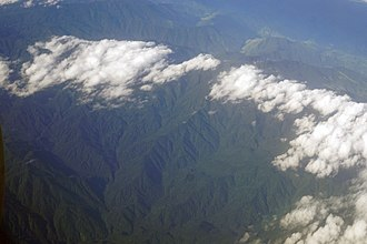 Cordillera de Talamanca - Aerial view of the Cordillera de Talamanca