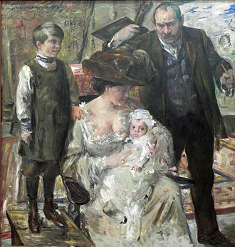 Lovis Corinth - The Artist and His Family, 1909, oil on canvas, Niedersächsisches Landesmuseum, Hanover