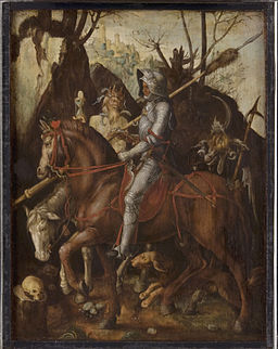 Cornelis van Dalem (Attributed to) - A Knight, Death, and the Devil