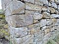 Corsehill Castle, west facing wall base details, Stewarton, Ayrshire, Scotland.jpg
