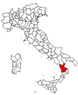Location of Province of Cosenza