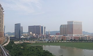 Cotai Zone in Municipality of das Ilhas, Macau