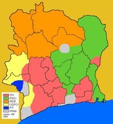 Ivory Coast Wikipedia - Ivory coast map of africa