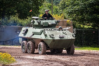 AVGP - A surplus Cougar seen in a militaria event in the UK.