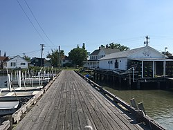 Tangier, Virginia, seen from the County Dock, June 2017