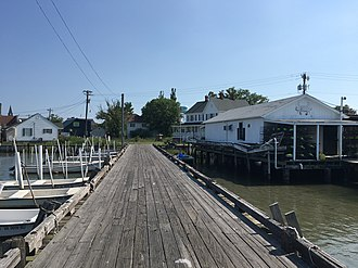 Tangier, Virginia - Tangier, Virginia seen from the County Dock, June 2017