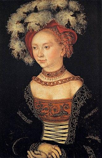 Female Portrait (Cranach) - Image: Cranach, ritratto di donna, uffizi