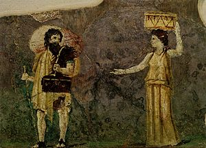 Crates of Thebes - Image: Crates and Hipparchia Villa Farnesina