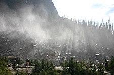 Crepuscular Rays Beam through the Mist Blown from Takkakaw Falls.jpg