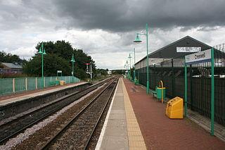Creswell railway station Railway station in Derbyshire, England
