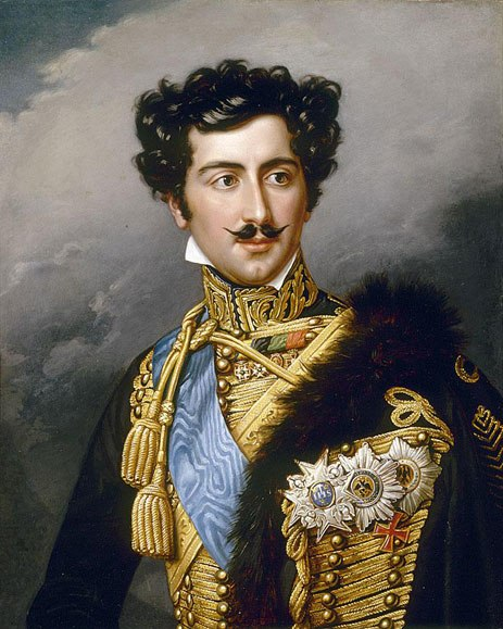 Crownprince Oscar of Sweden painted by Joseph Karl Stieler