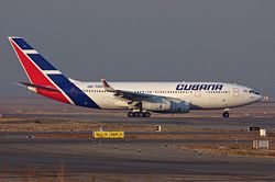 Cubana taxiing at Madrid.jpg